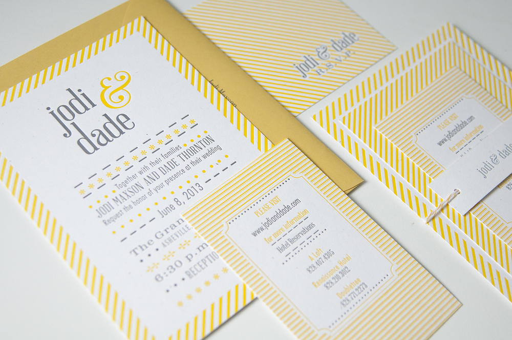 Jodi & Dade Wedding Invitation