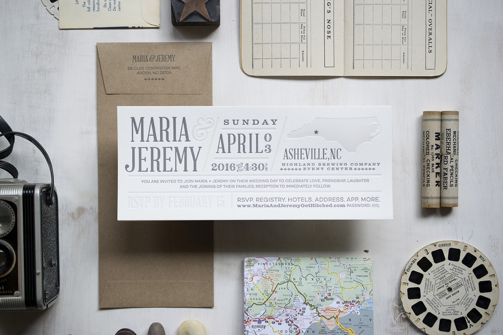 Maria & Jeremy Wedding Invitation