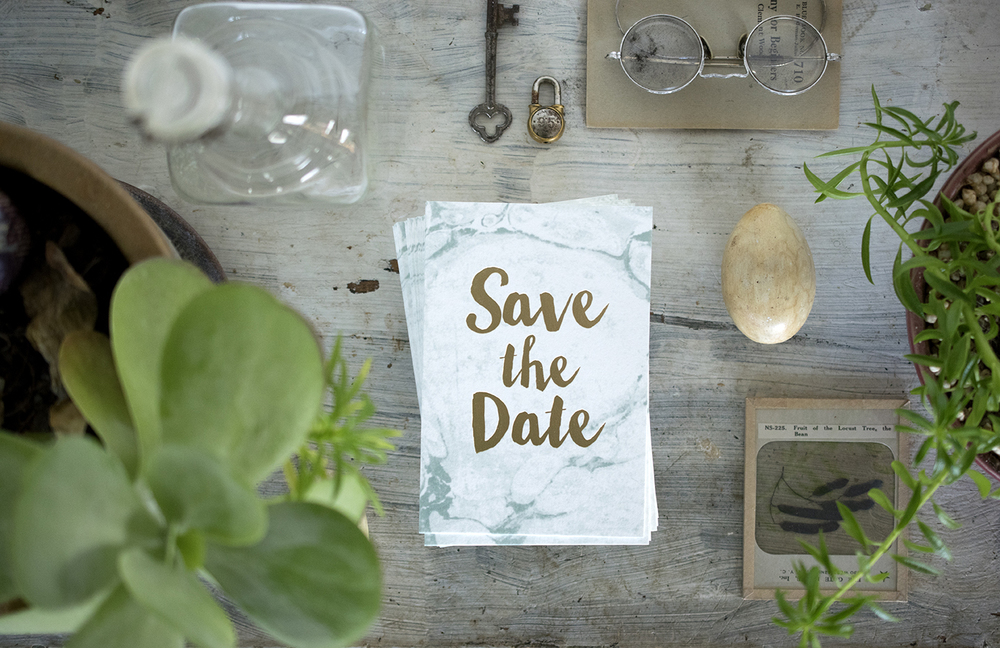 7 ton co - foil save the dates