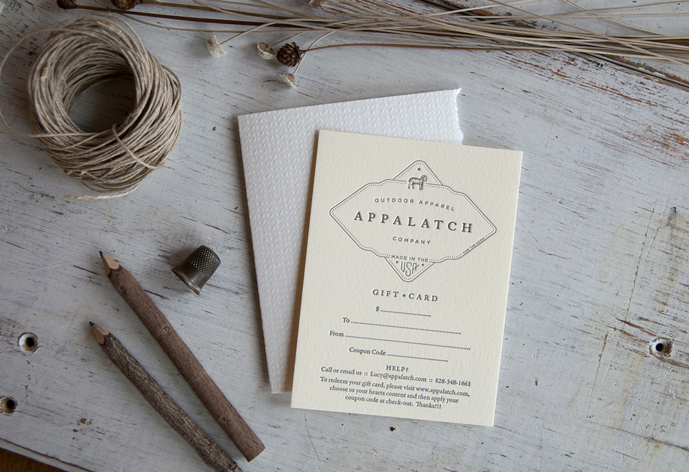 7 Ton Co. : Letterpress Printed Appalatch Gift Cards
