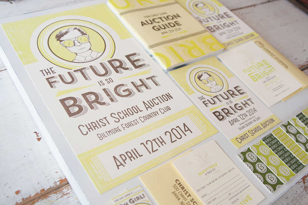Christ School Auction Letterpress Collateral