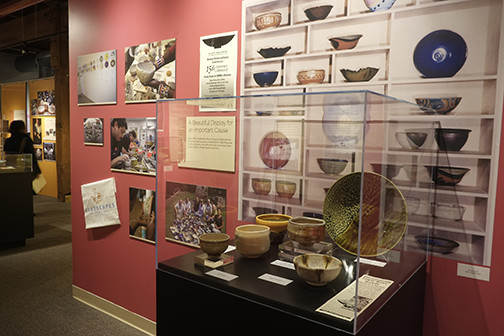 Photo by Dana Moore. Empty Bowls 25th Anniversary Exhibit.