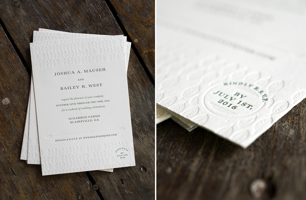 7 Ton Co. - Letterpress Wedding Invitations