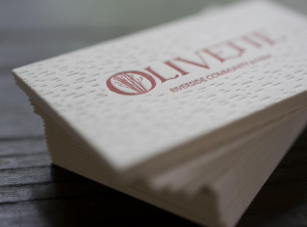 Olivette Lettepress Business Card