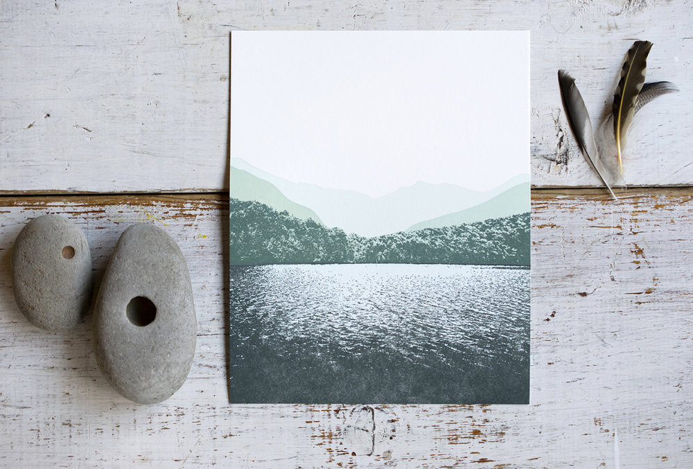 7 Ton Co. : Lake Print