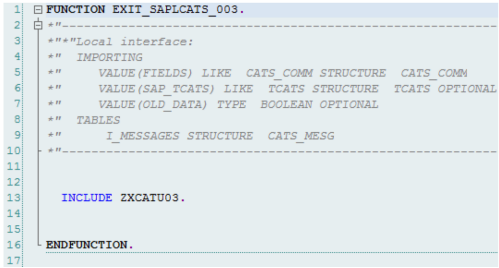 sap hcm tip how to add custom validations to cats timesheet data