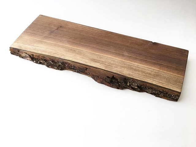 Another available cheeseboard! Live edge walnut