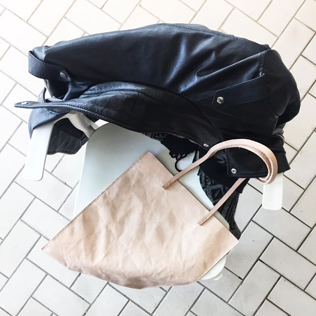 I've got one tote bag now available! The softest leather you've ever felt! Rolls up to easily fit in your bag. This veg tan leather will naturally darken and tan with wear.