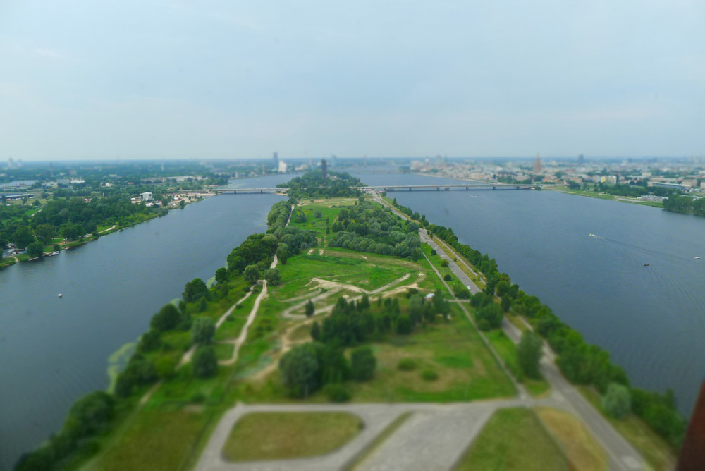 Ovenfra ser det nesten ut som en park.