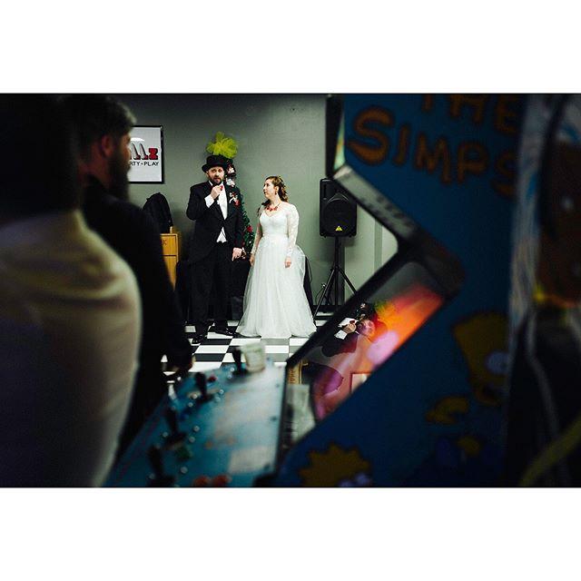 Fun wedding reception at Pinballz! . . . @pinballz_arcade #austinwedding #pinballz #pinballzarcade #belovedstories #atxwedding #pinballzwedding #austinweddingphotographer #loveauthentic #austinphotographer #creativeweddingphotography #weddingphotojournalist #brideandgroom #fearlessphotographer #adventurouswedding #texasweddingphotographer #atxweddingphotographer #texasphotographer #weddingwire #weddinginspo #lookslikefilm #theknot #junebugweddings #loveandwildhearts