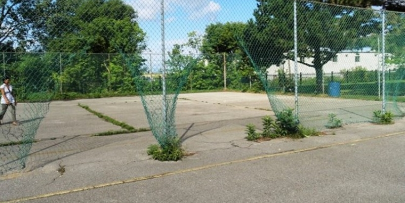 Lotherton Village basketball court (before)