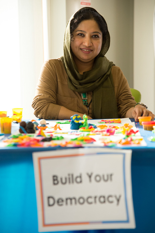 Settlement Worker Nowshin and the many Play-Doh Creations