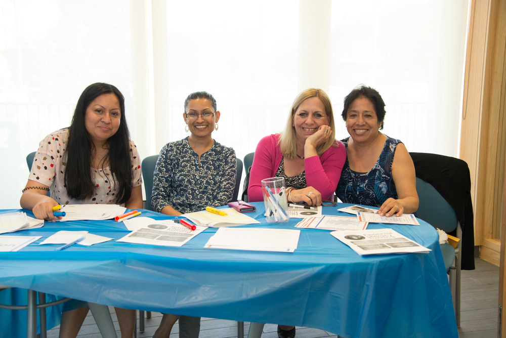 Supportive NYCH staff at the Change Fair registration table