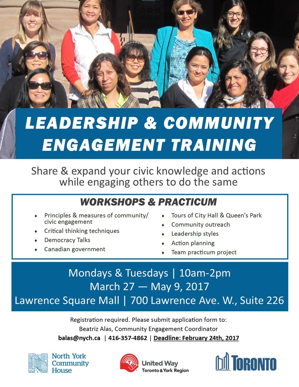 Leadership & Community Engagement Training flyer