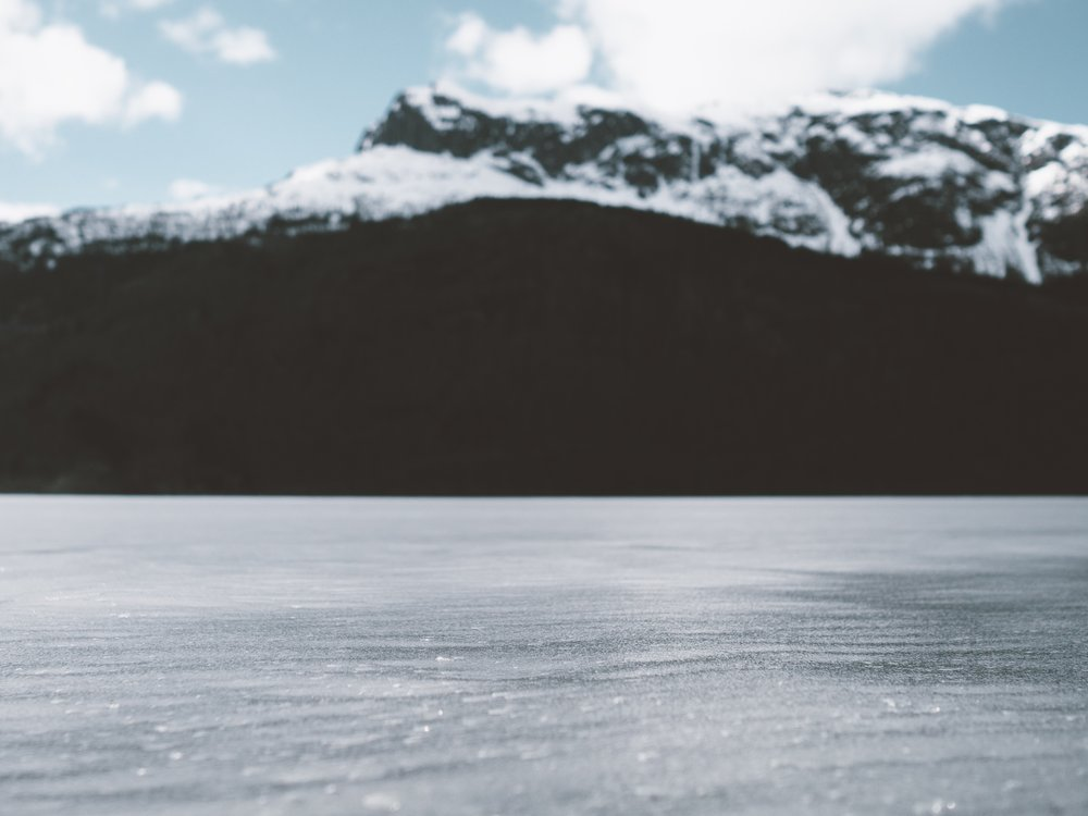 Photo of frozen lake by Andrew Ridley via www.unsplash.com