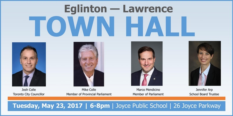 Eglinton-Lawrence Town Hall promotional card