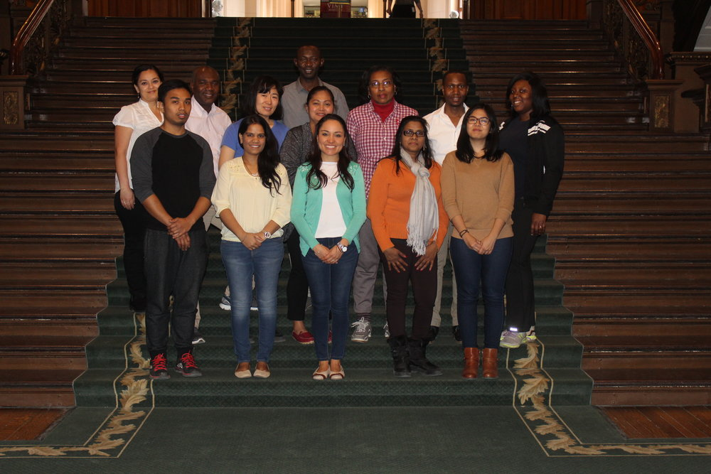 Leadership & Community Engagement Training participants on a visit to Queen's Park