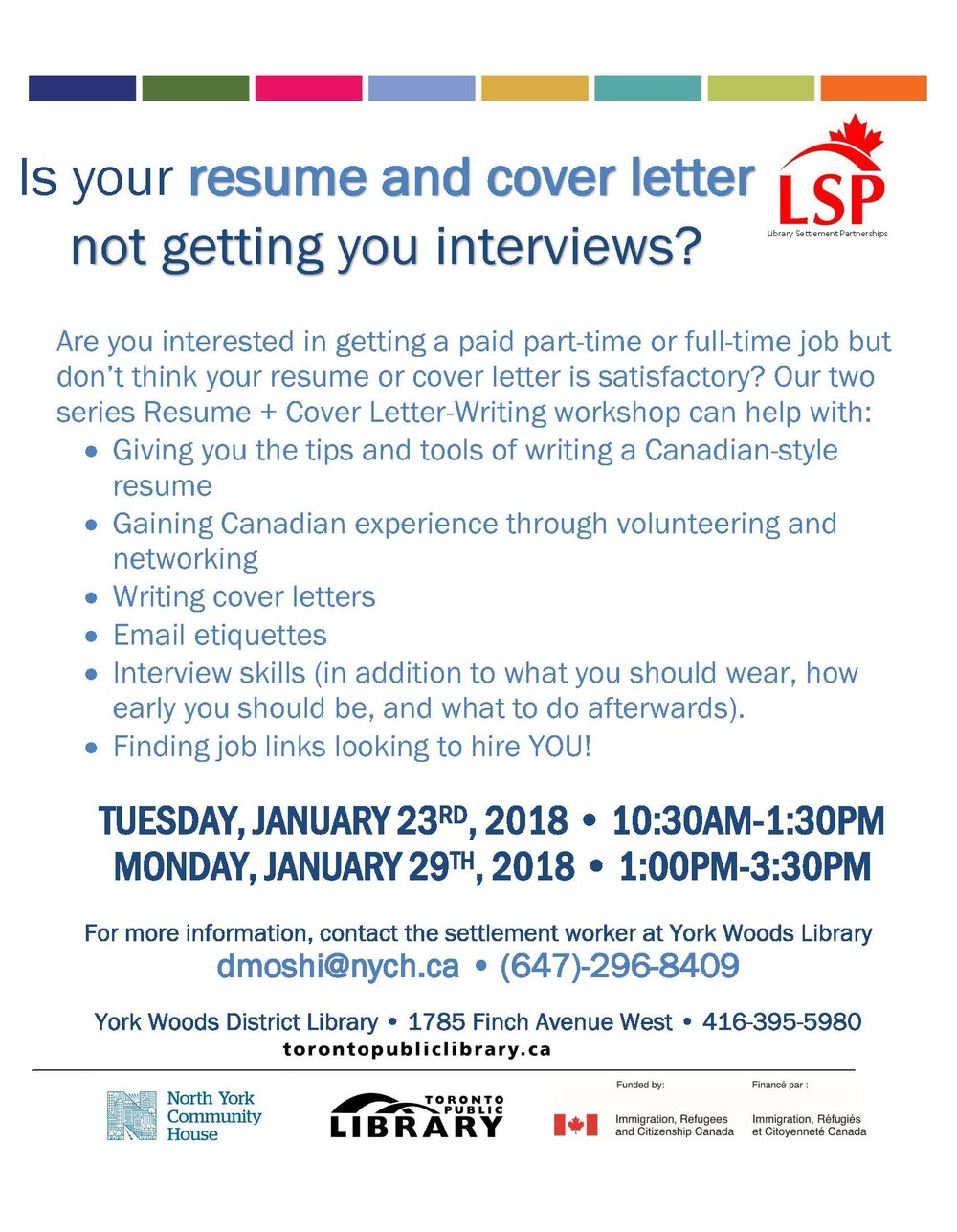 Are You Interested In Getting A Paid Part Time Or Full Time Job But Donu0027t  Think Your Resume Or Cover Letter Is Satisfactory? Our Workshops Can Help  With: