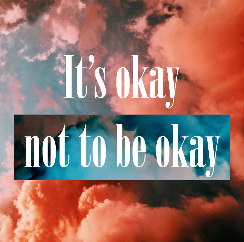 """It's okay not to be okay"" - Cloud photo by Laura Vinck on Unsplash"
