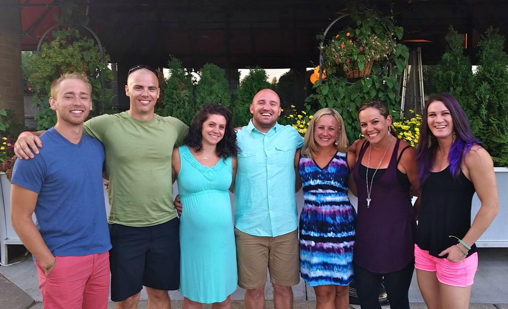 The CFEP & CFPL coaching staff enjoying dinner together last weekend...