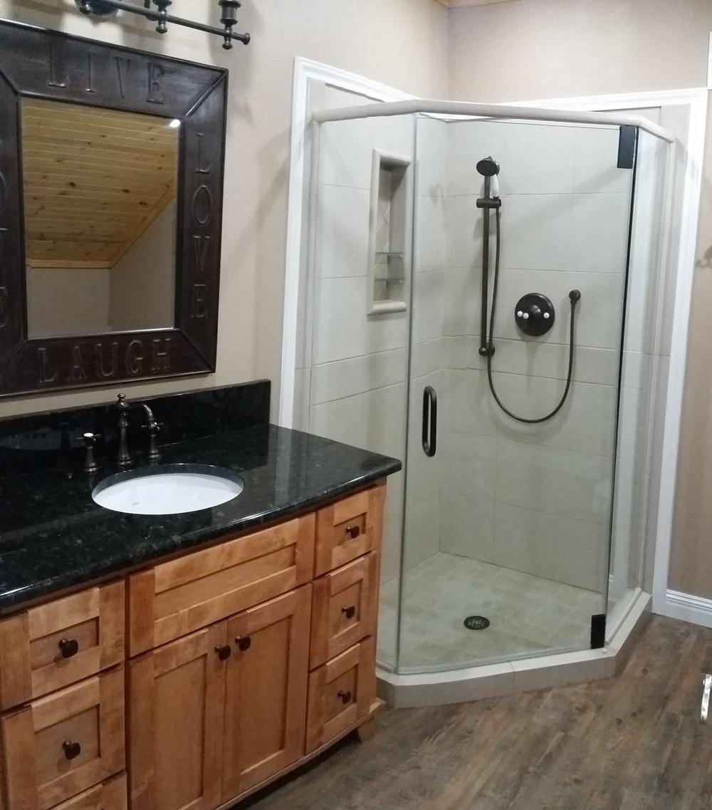 Custom Vanity And Shower In Rockport, Texas
