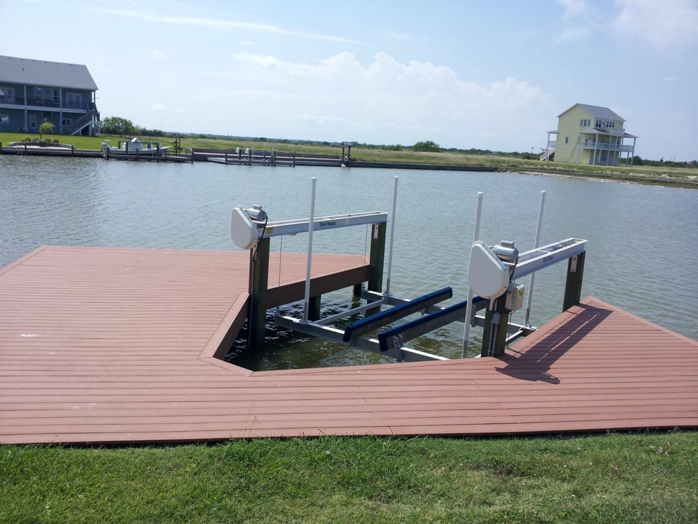 Private dock extending out into beautiful Aransas bay.