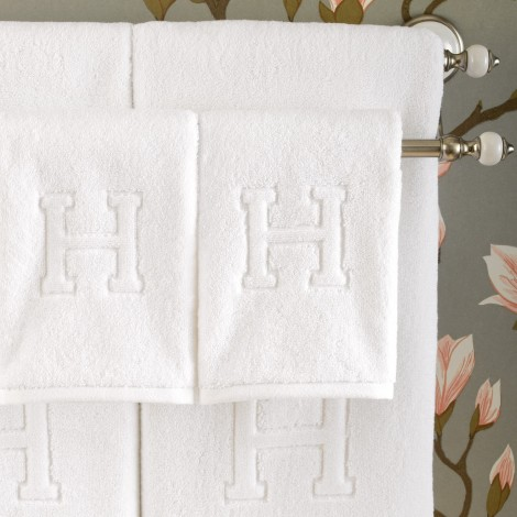 Auberge Monogram Letter Towels Hildreth S Home Goods