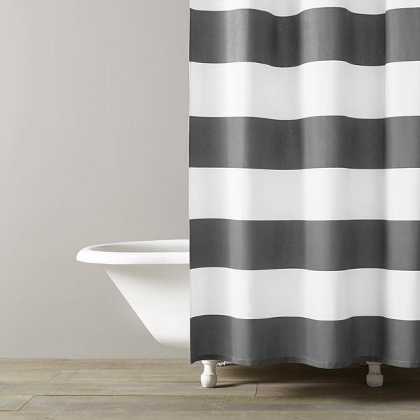 Hampton Stripe Spa Curtain — Hildreth\'s Home Goods