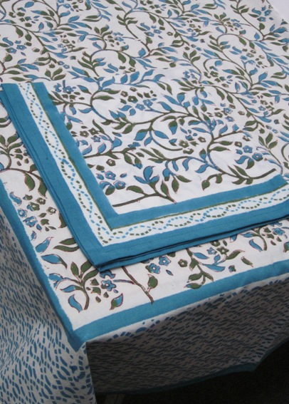 Hand Block Printed Tablecloth
