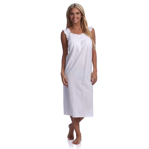 45047e898c White Eyelet-trimmed Cotton Nightgown — Hildreth s Home Goods