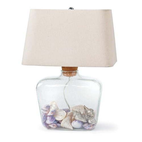 Now create an enlightened spot for all your little treasures with the Keepsake table lamp. Simply remove the large cork and fill with buttons, shells, silk flowers or other trinkets to create a home accent that speaks to your personality.