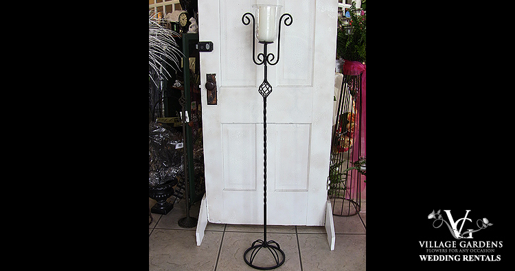 Wrought Iron Spiral Candelabra