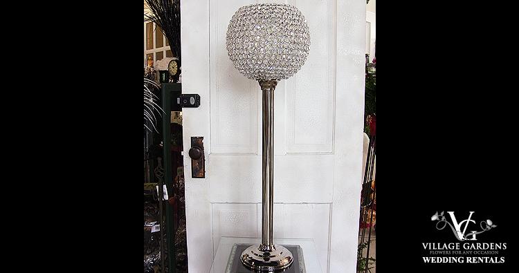 Large Crystal Ball Candelabra