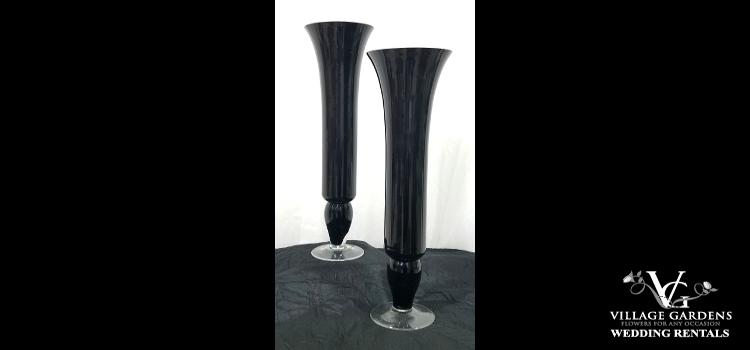Black Trumpet Vase