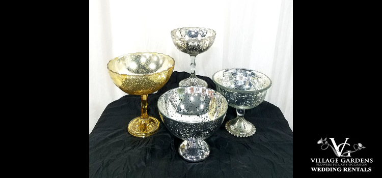 Short Footed Mercury Bowls