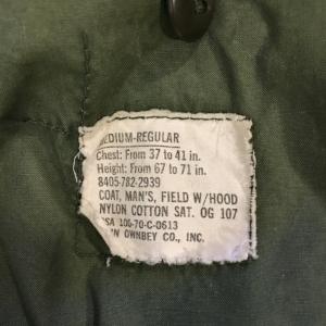 Army Jacket Tag