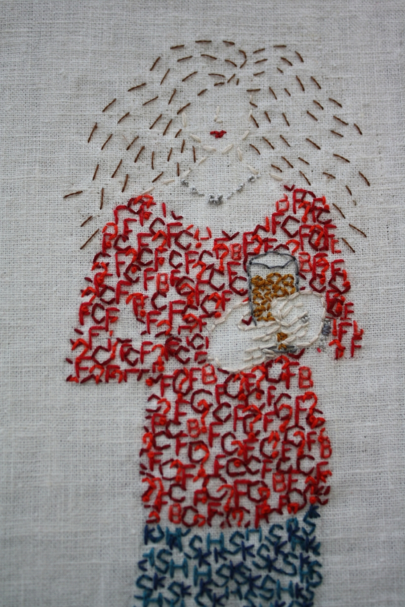Embroidered Self-Portrait, 2015