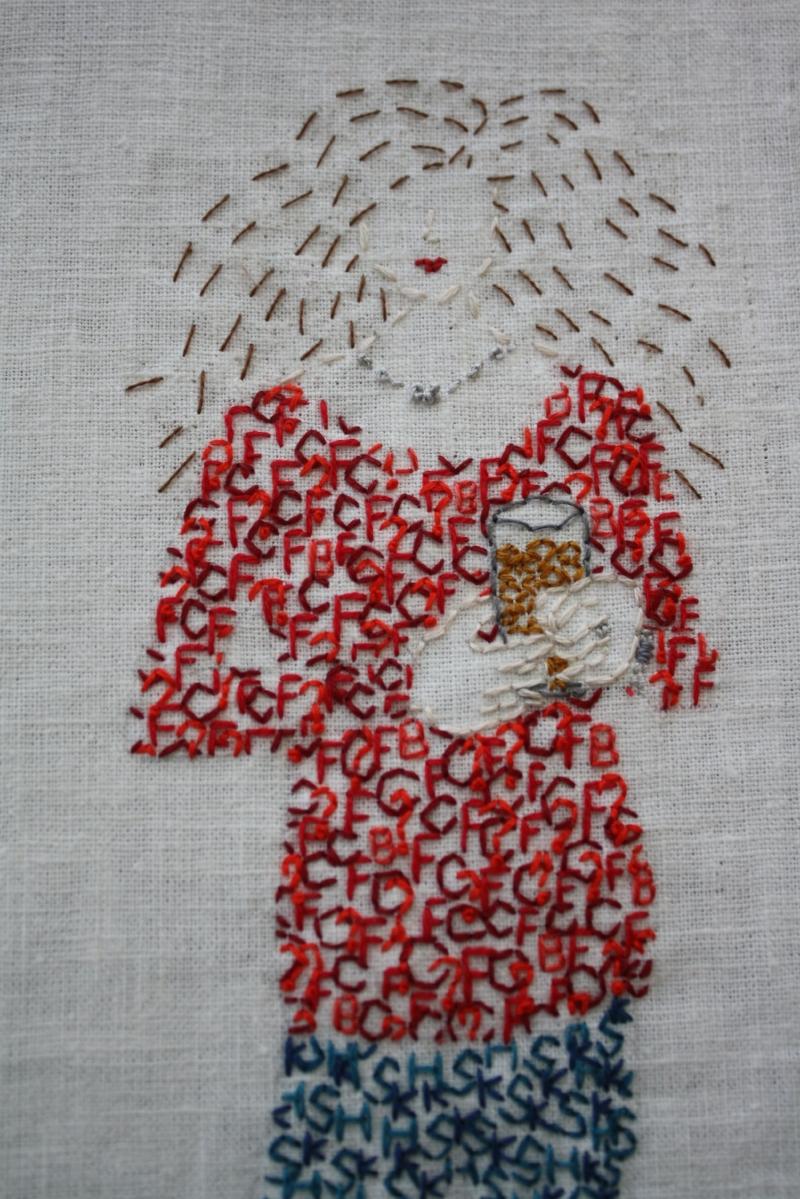Embroidered Self-Portrait, 2015