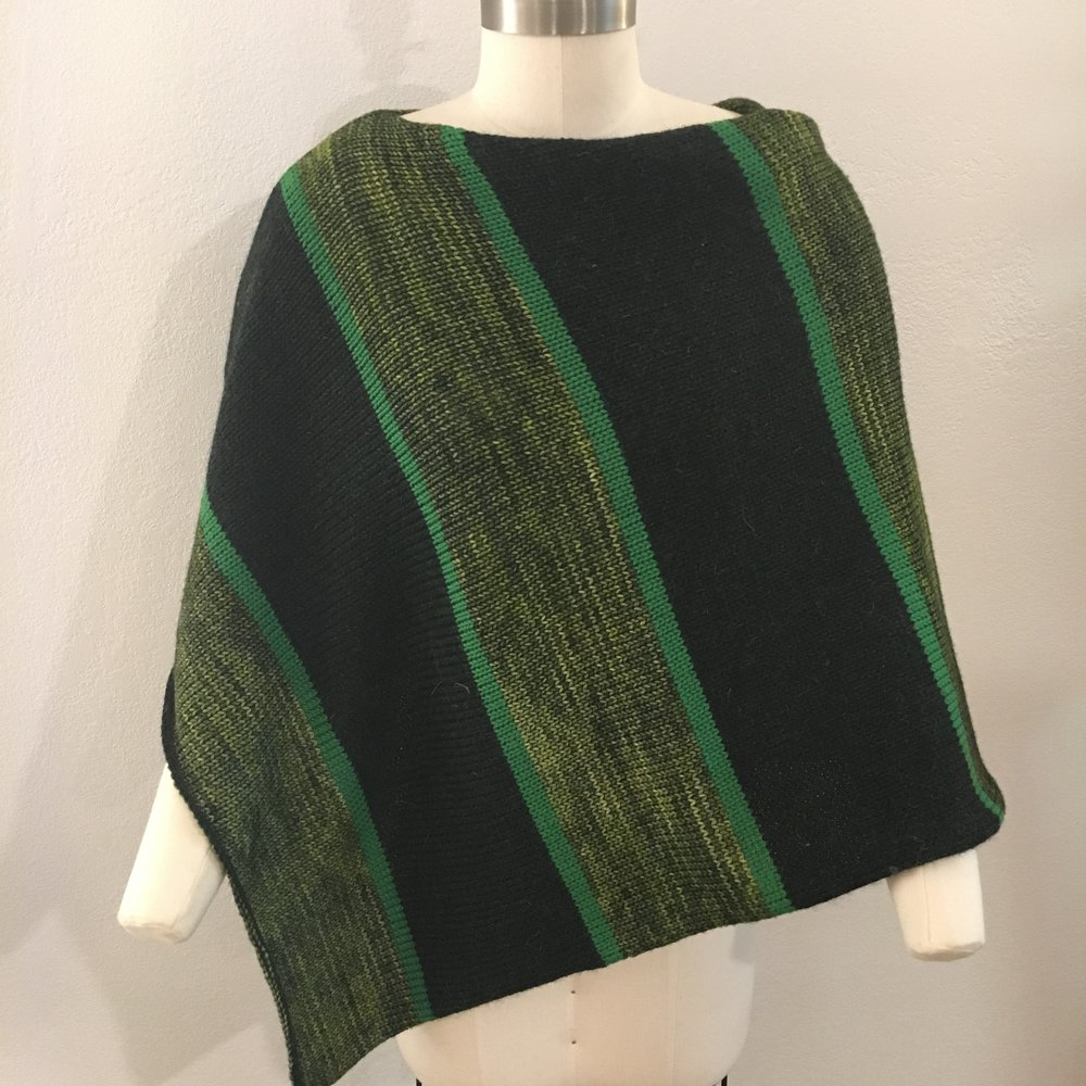 Signature Poncho in Marsh Colorway, Cozy Weight