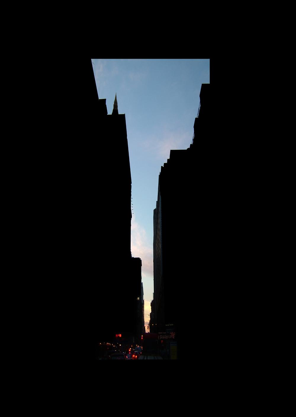 "27thStreet.  , 7 x 5"" 2004"