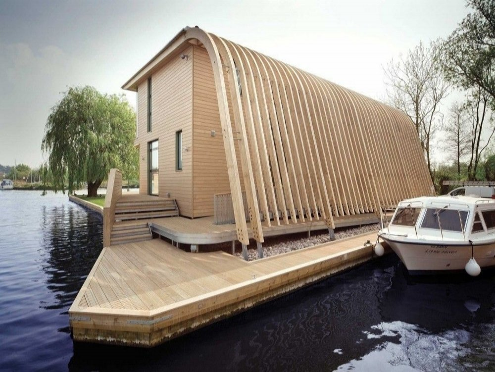 A beautiful floating Accoya house