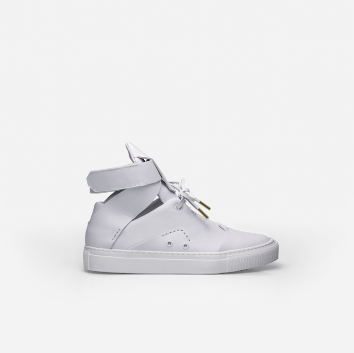 BEAUBOURG White calfskin leather