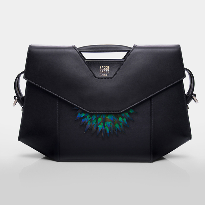VENDÔME | SPECIAL EDITION - GALERIE DOMINIQUE FIAT Peacock plumes & smooth black calfskin leather SHOP NOW