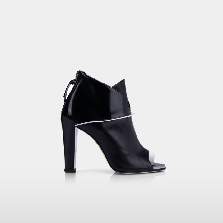 ABBESSES Goose plumes & black calfskin leather