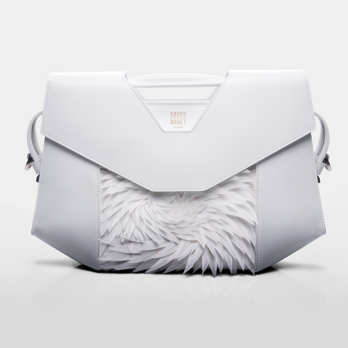 VENDÔME  Goose plumes & smooth white calfskin leather SHOP NOW