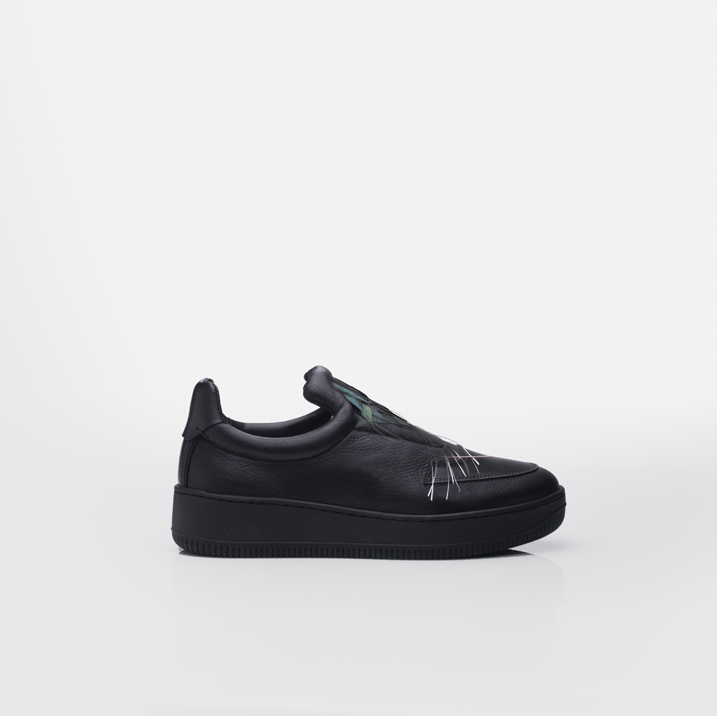 ST. GERMAIN|SPECIAL EDITION - PALAIS DE TOKYO Cockerel plumes &black calfskin leather