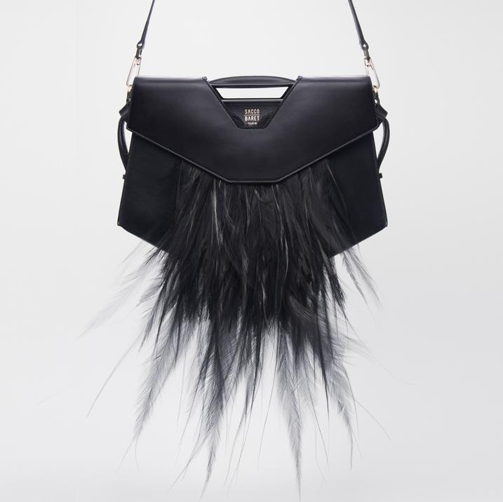 VENDÔME | SPECIAL EDITION - P  ALAIS DE TOKYO    Bird of paradise plumes (historical stock) &smooth black calfskin leather    SHOP NOW