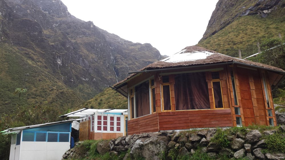 Day 3: The Ahobamba House (3,500m) - At the upper end of the cloud forest biome our house is set among canyon walls and waterfalls. Many species of hummingbirds zip along through the ruins of an ancient Inca town located across the river. This place is a world all its own.