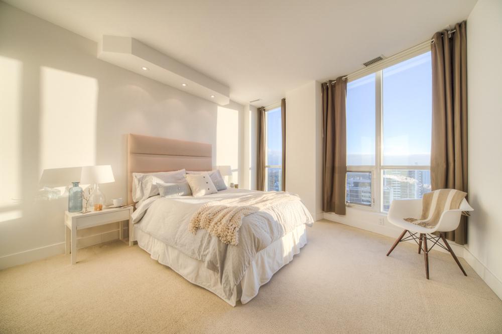 condo staging - bedroom