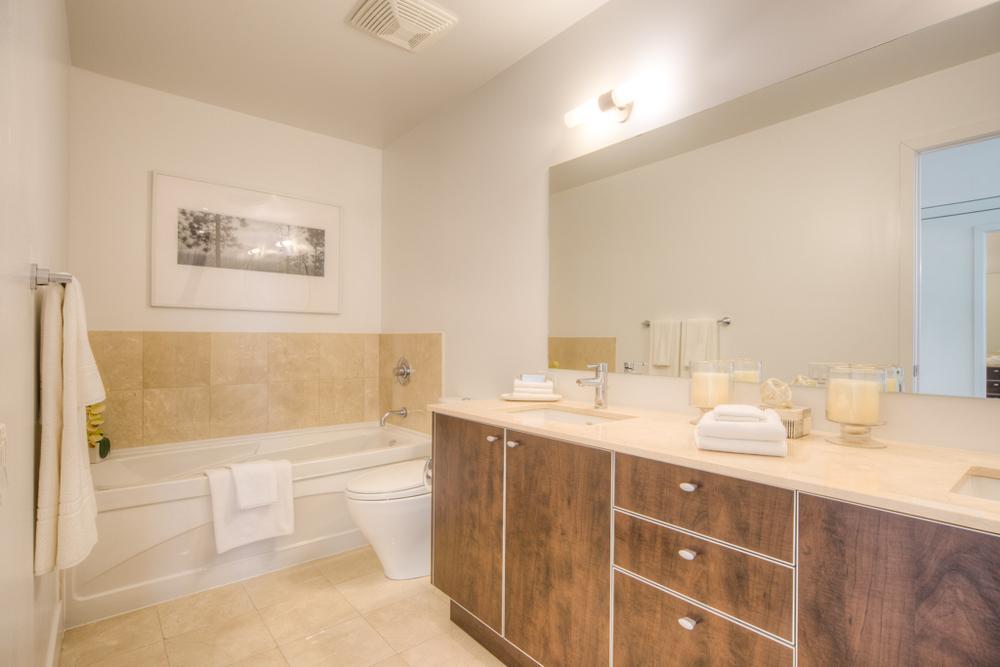 condo staging - bathroom